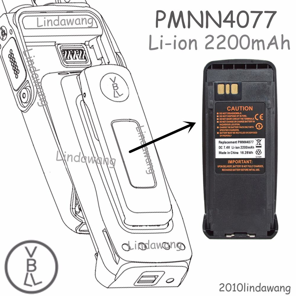 Pmnn4077 Li Ion Battery For Motorola Xpr6580 Xpr6300