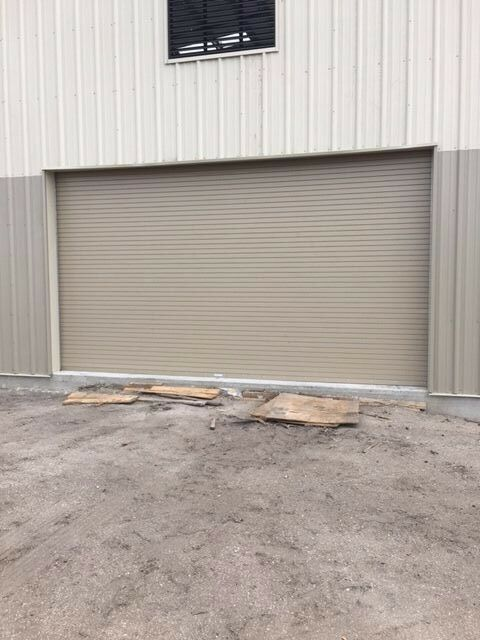 insulated roll up overhead garage door 12 feet wide x 12