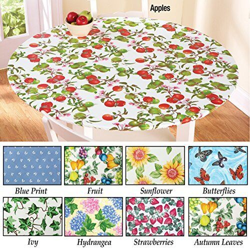 Fitted Elastic Table Cover Fruit 48 Quot Round Ebay