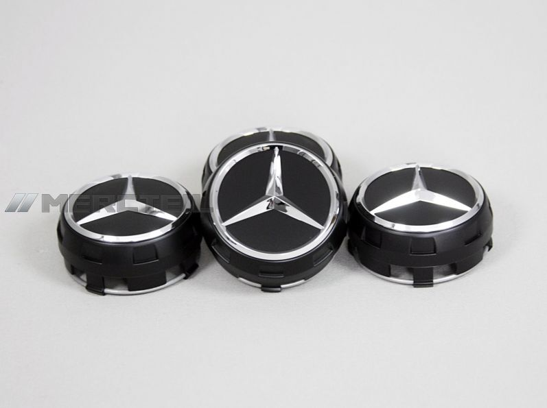 mercedes benz set of black center wheel caps 4 pcs ebay