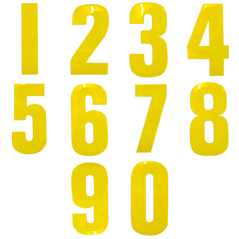 Yellow 7 Quot Garden Wheelie Bin House Number Vinyl Label
