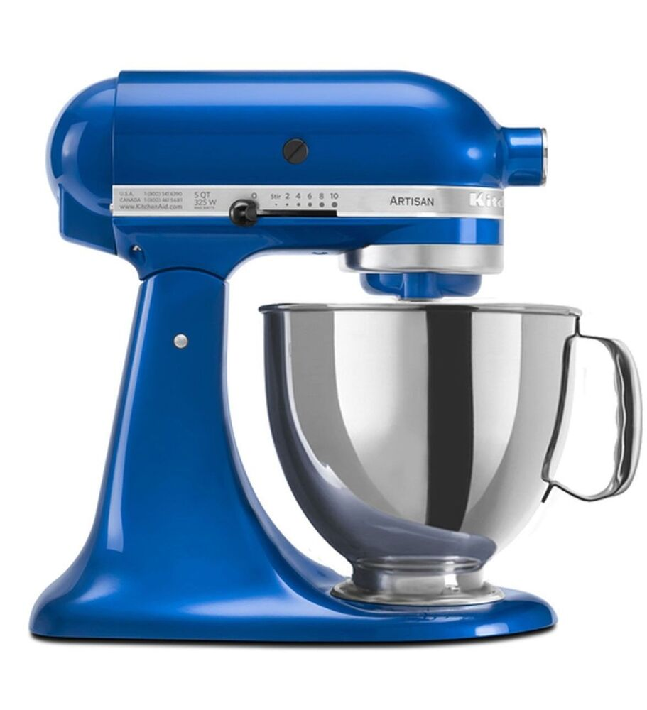 kitchenaid stand mixer tilt 5 qt rrk150eb metal artisan tilt electric blue 50946877020 ebay. Black Bedroom Furniture Sets. Home Design Ideas