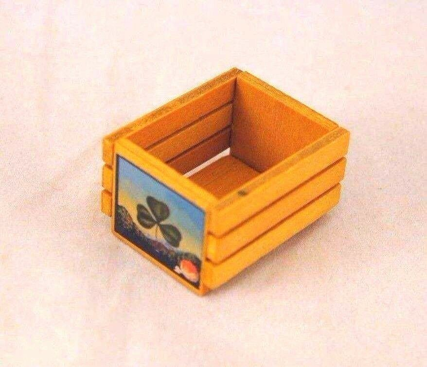 Wooden fruit crate box dollhouse classics miniatures for Buy wooden fruit crates
