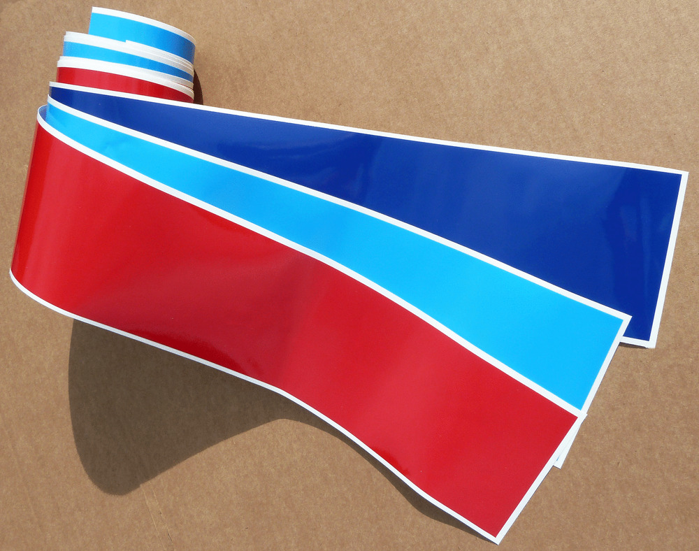 Bmw M Sport Style Colour Stripe Sticker Decal 75mm E30 E36