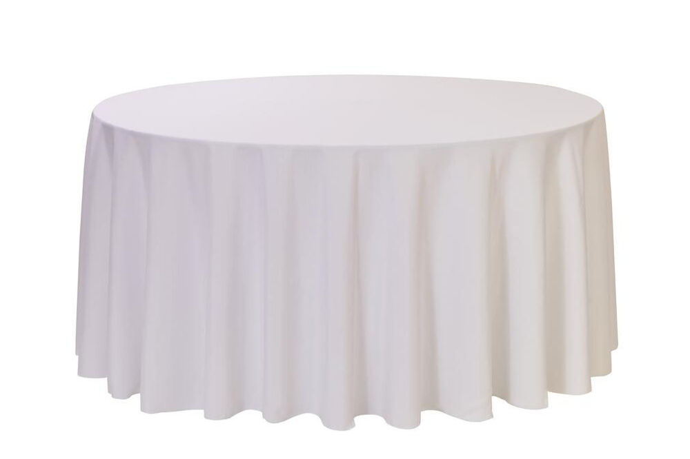 108 inch round polyester tablecloths white ebay