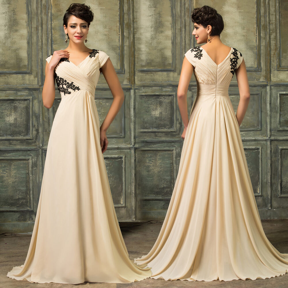 Long Gowns For Wedding Guests: Wedding Guest Vintage Chiffon 50's Evening Gown Cocktail