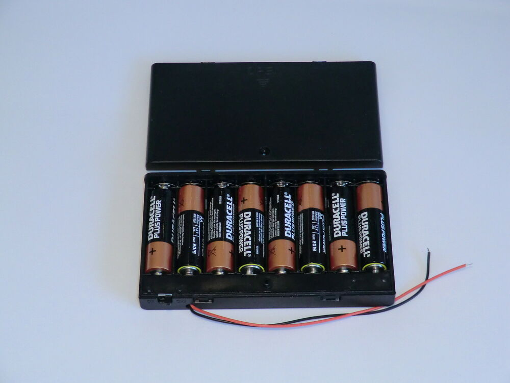 12 volt power supply 8x aa battery holder ebay. Black Bedroom Furniture Sets. Home Design Ideas