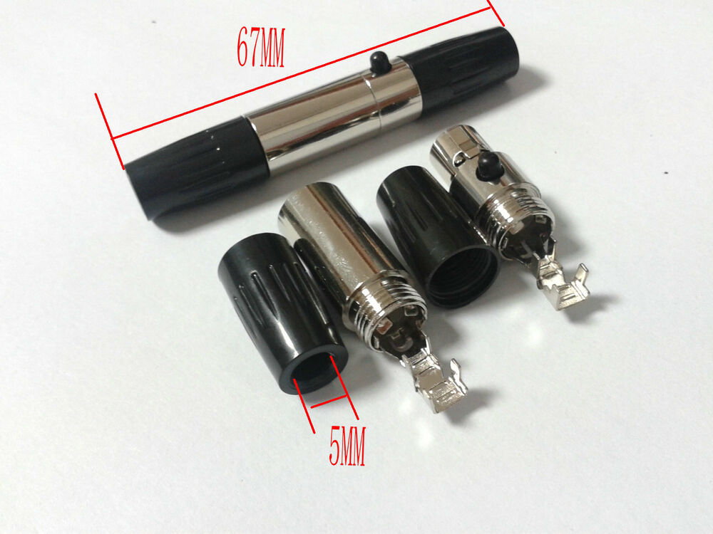 1 Set Ta4f Mini 4pin Female Mini 4 Pin Xlr Male Plugs