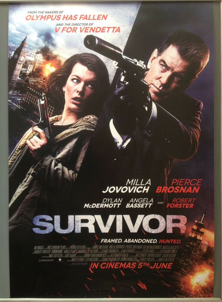 Cinema Poster: SURVIVOR 2015 (One Sheet) Pierce Brosnan ...