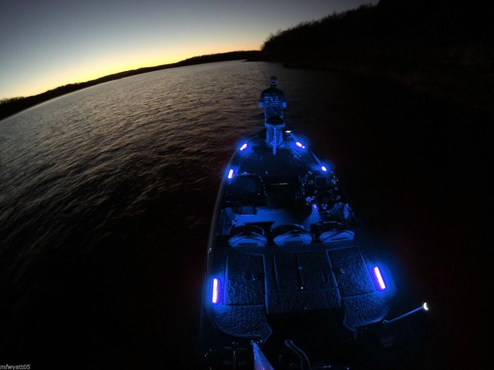 Led Interior Lighting Kit 6pc Blue Boat Pontoon Night Fishing Ebay