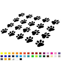 20x Cat Dog Paw Decal Stickers For Car Van Window Bumper Laptop Wall Novelty