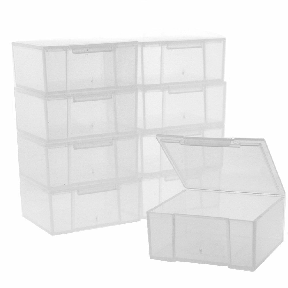 Tiny House Container Amazon: 10 Storage Square Clear Container For Crafts Beads Small