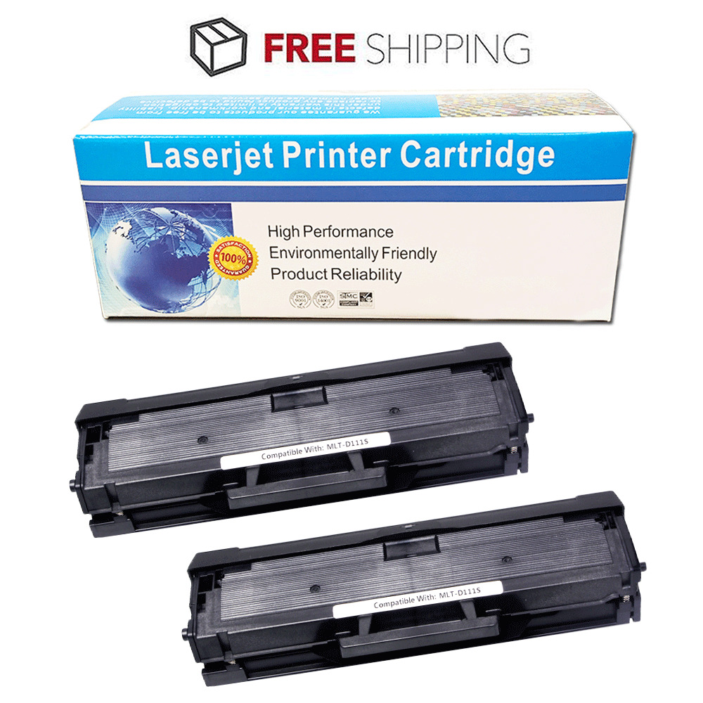 2 pk mlt d111s toner cartridge for samsung xpress m2022 xpress m2070w printer ebay. Black Bedroom Furniture Sets. Home Design Ideas