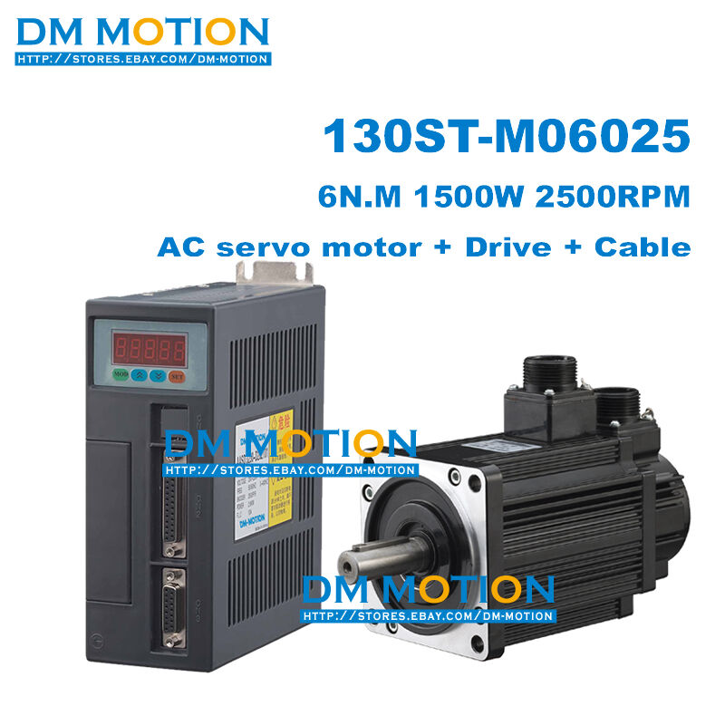 130st m06025 1 5kw 6n m ac servo motor kits include servor for Servo motors and drives