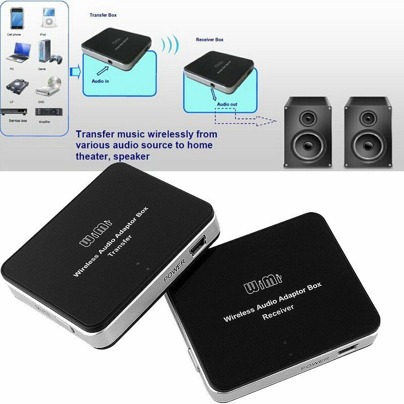 Wireless Transmitters And Receivers: 2.4GHz Wireless Audio Adapter Box Transmitter And Receiver