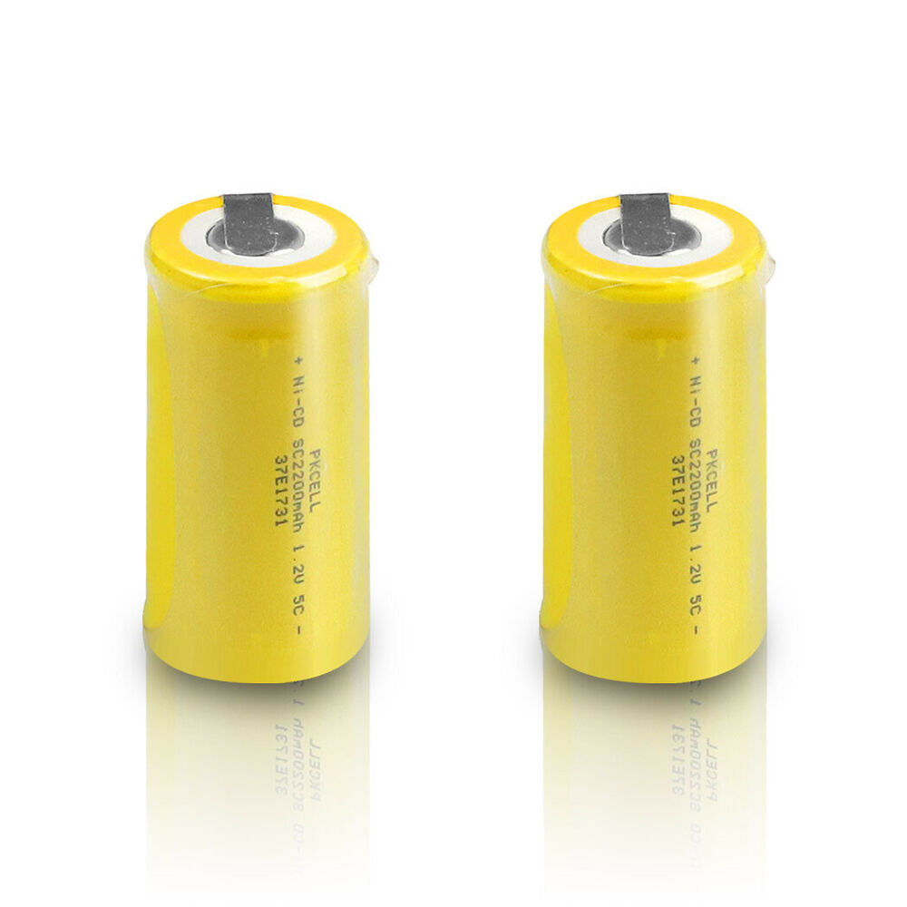 2 pcs nicd subc sub c 1 2v 2200mah rechargeable battery. Black Bedroom Furniture Sets. Home Design Ideas