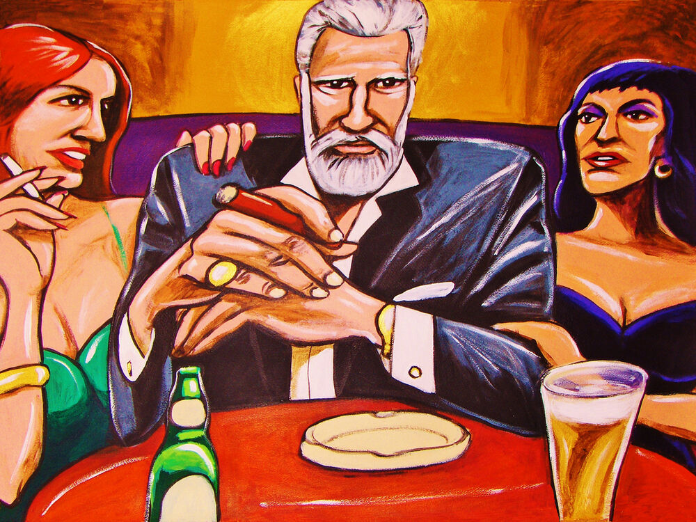 the most interesting man in the world print poster beer