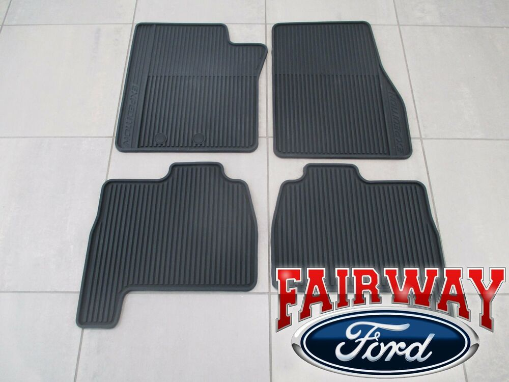 11 Thru 14 Expedition Oem Genuine Ford Rubber All Weather