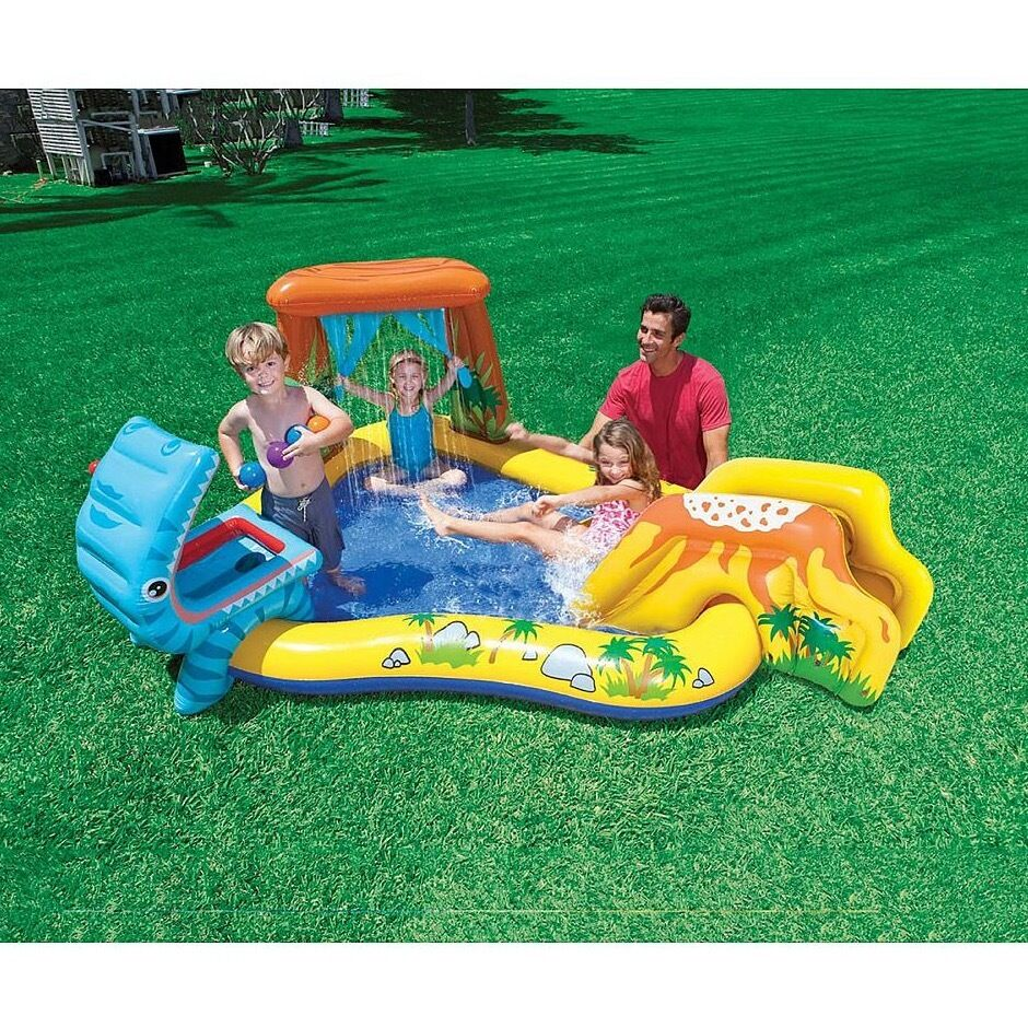 Inflatable Kids Swimming Pool Water Slide Park Play Center Toddler Backyard New Ebay