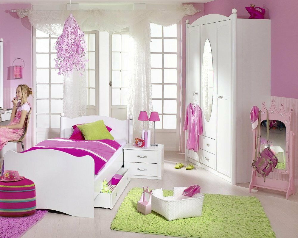 kinderzimmer jugendzimmer 4 tlg schrank bett schubkasten. Black Bedroom Furniture Sets. Home Design Ideas