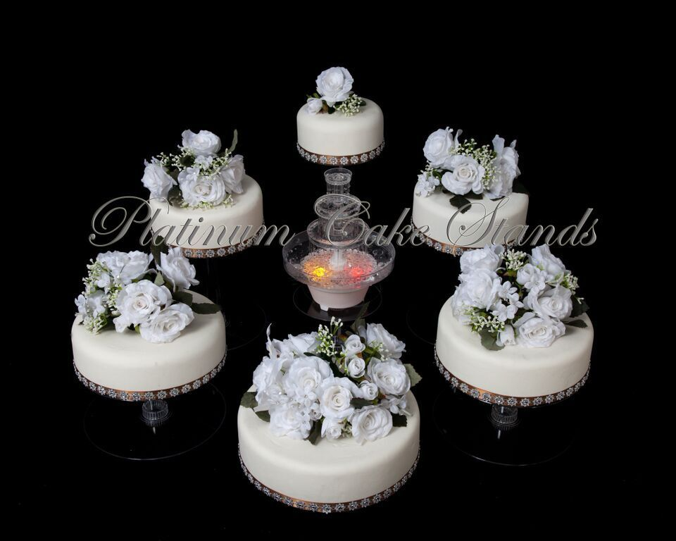 6 tier cascade wedding cake stand w fountain style r602 ebay. Black Bedroom Furniture Sets. Home Design Ideas