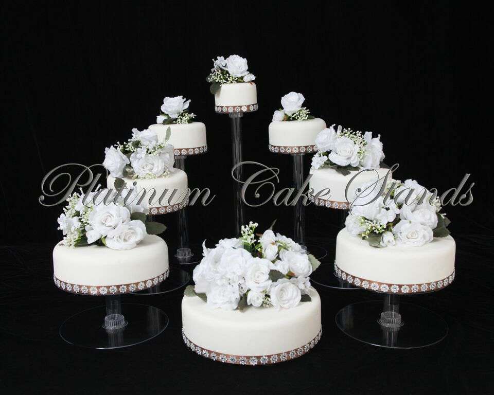 Tier Cascade Wedding Cake Stand Uk