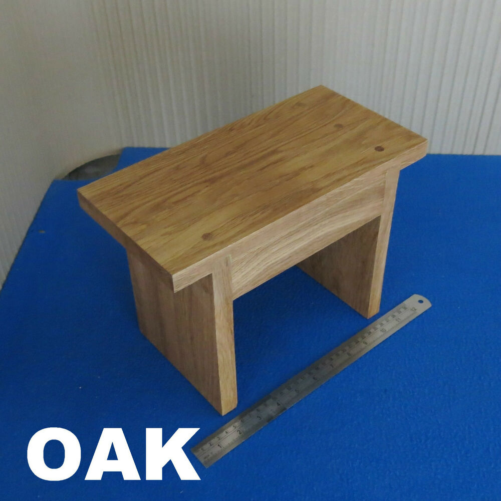 Solid Wooden Childrens Kids Step Stool Foot Chair Oak Wood