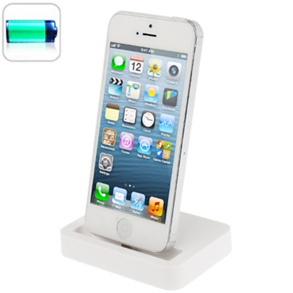 new desktop charging dock stand station charger for apple iphone 5 5s 5c white ebay. Black Bedroom Furniture Sets. Home Design Ideas