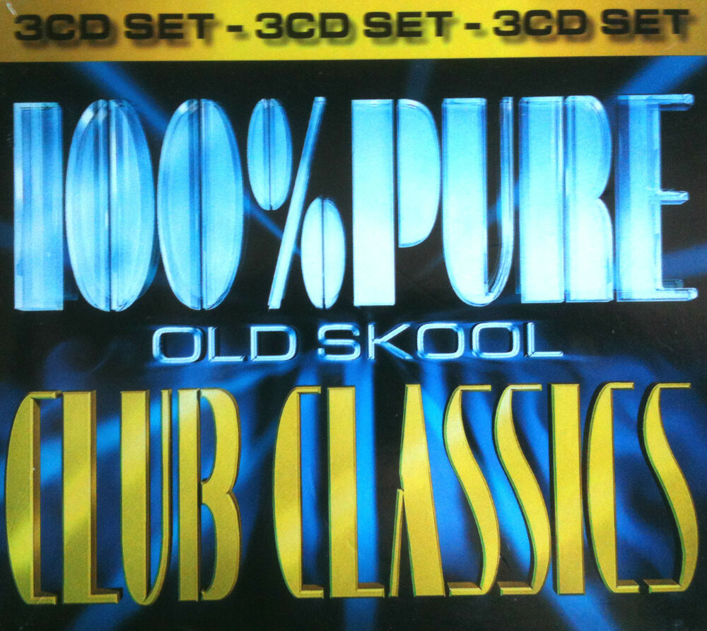 100 pure oldskool club classics 3 x cds mixed rave for Classic house albums 90s