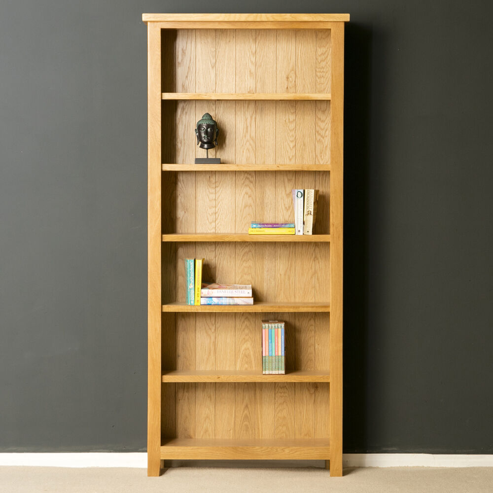 London oak large bookcase tall solid wood