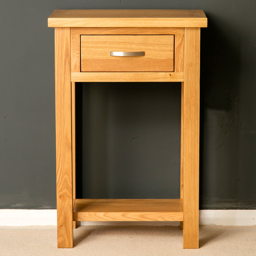 Foyer Table Uk : London oak small hall table telephone solid wood