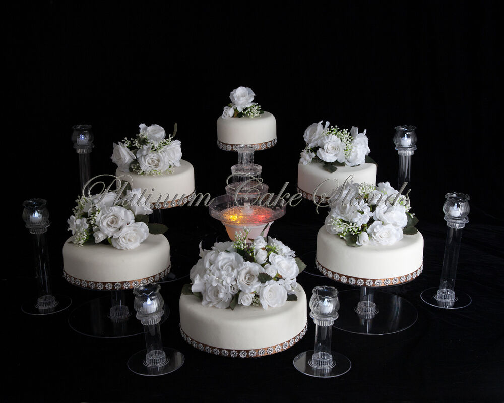 wedding cake stands 6 tier cascade wedding cake stand w amp 6 votive 25646