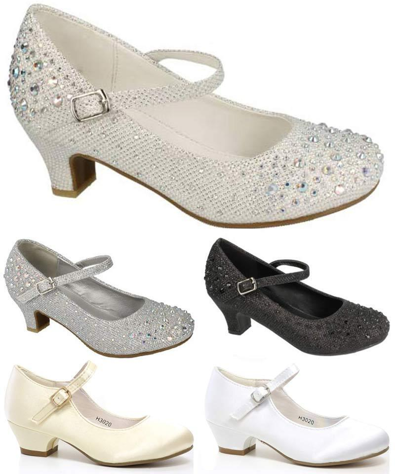 Girls wedding shoes infants party dress bridesmaid fancy for Girls dress shoes for wedding