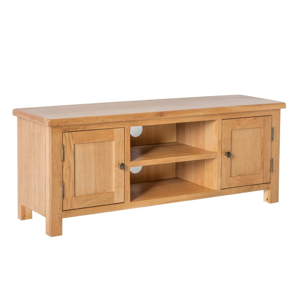 Surrey Oak Large TV Stand Solid Wood Plasma TV Unit