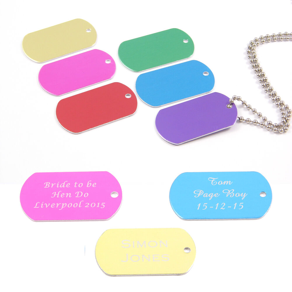 Customized Military ID Dog Tags Personalized Metal Tags - akross.info 0296c0b9669