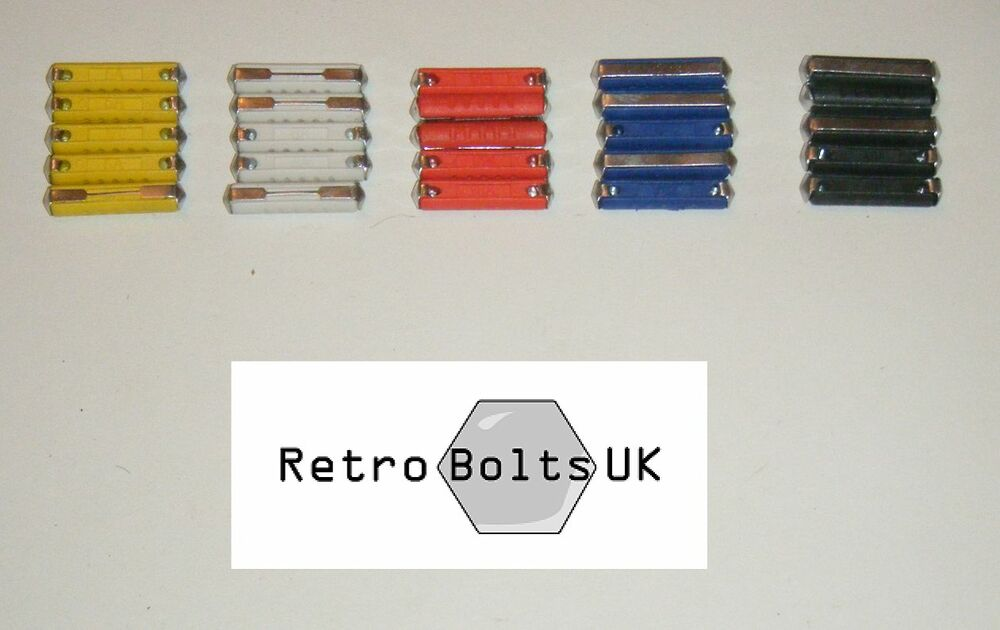 25 X Old Style Ceramic Bullet Fuses 5 8 16 25 40 Amp