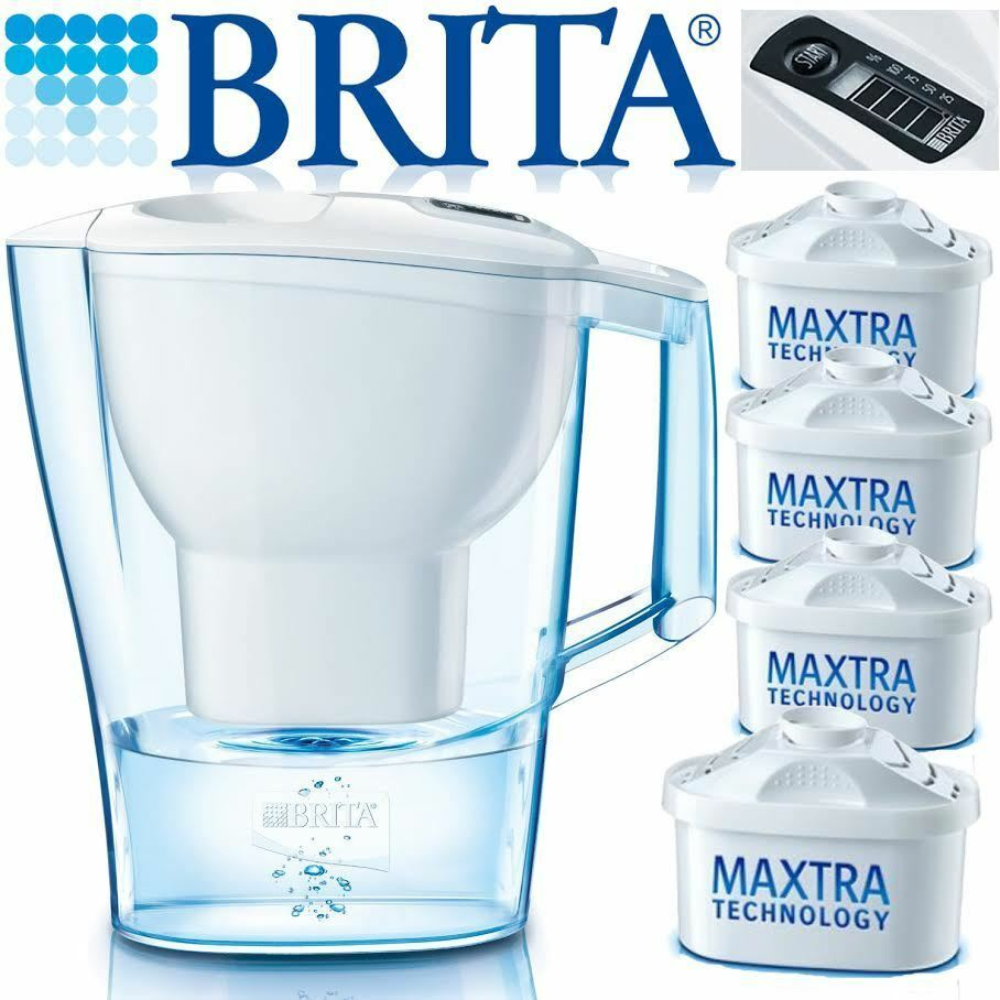 brita new marella 2 4l cool white jug with 4 month pack of. Black Bedroom Furniture Sets. Home Design Ideas