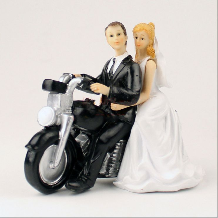 Funny Biker Wedding Cake Toppers
