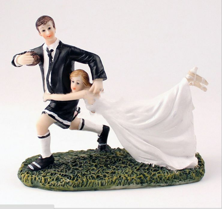 rugby couple wedding cake topper quot a match quot rugby wedding cake topper 19463