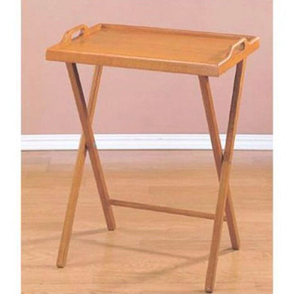 Folding Tv Tray Table Serving Drinks Snacks Crafts Dinner