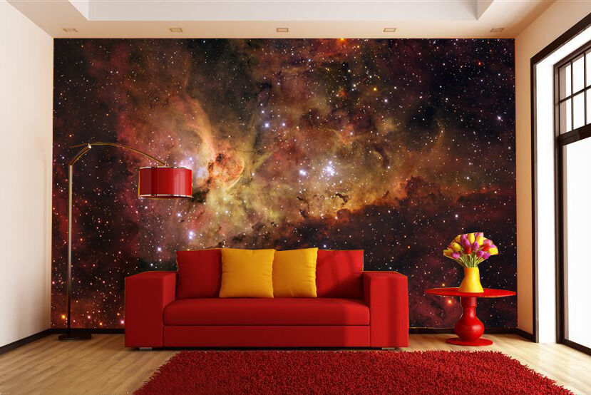 3d faint starlight universe paper wall print decal wall for Wall and deco showroom milano