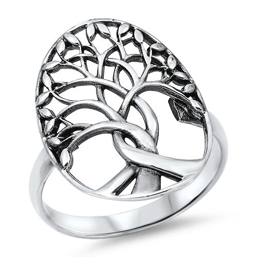 womens 925 sterling silver tree of ring size 7 8 9 10