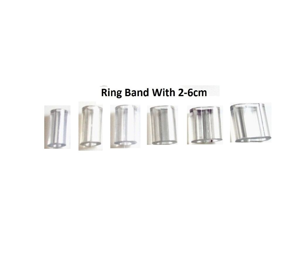 Plastic adjuster ring size reducer clip pack of 6 assorted size ebay