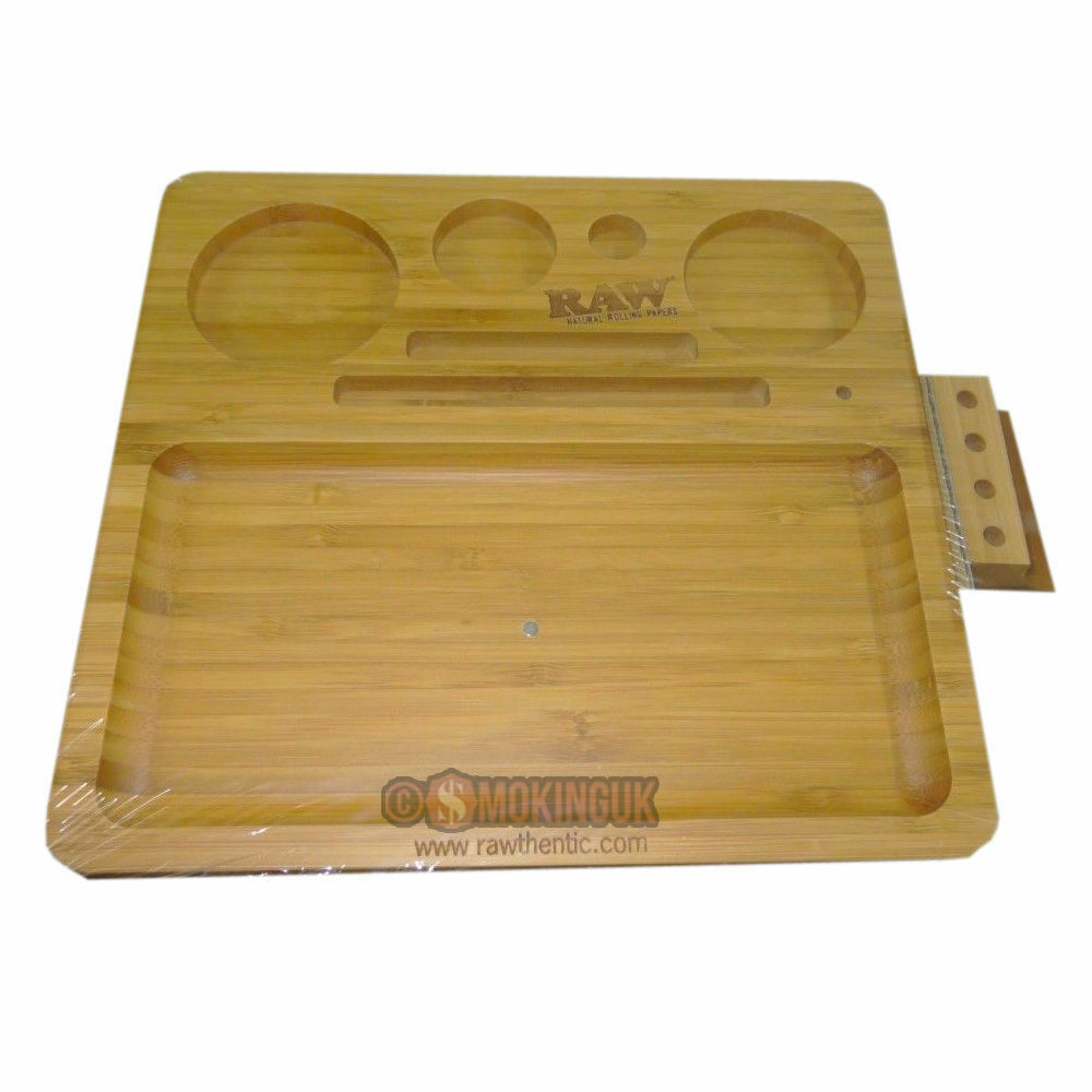Raw Rolling Papers Bamboo Tray Premium Wood Tray From