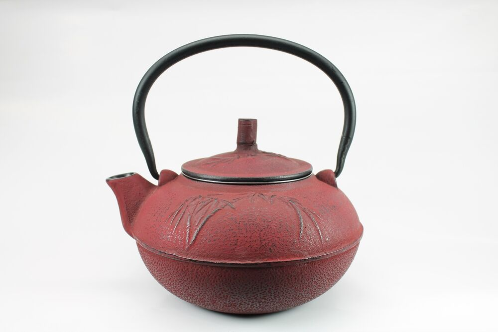 Japanese tetsubin red cast iron teapot 1 5 liter 50oz - Teavana tea pots ...