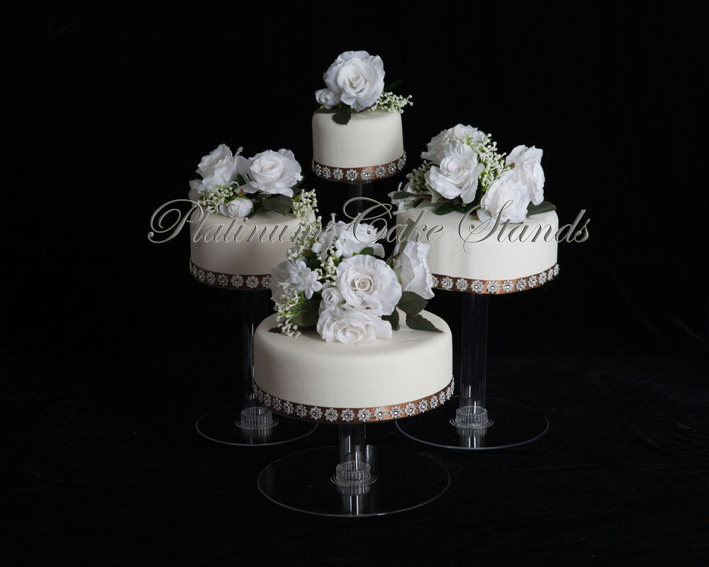 4 tier cascade wedding cake stand style r406 ebay. Black Bedroom Furniture Sets. Home Design Ideas