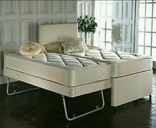 3ft Single 3 In 1 Guest Bed With Under Trundle Mattresses Headboard 5060277644685 Ebay