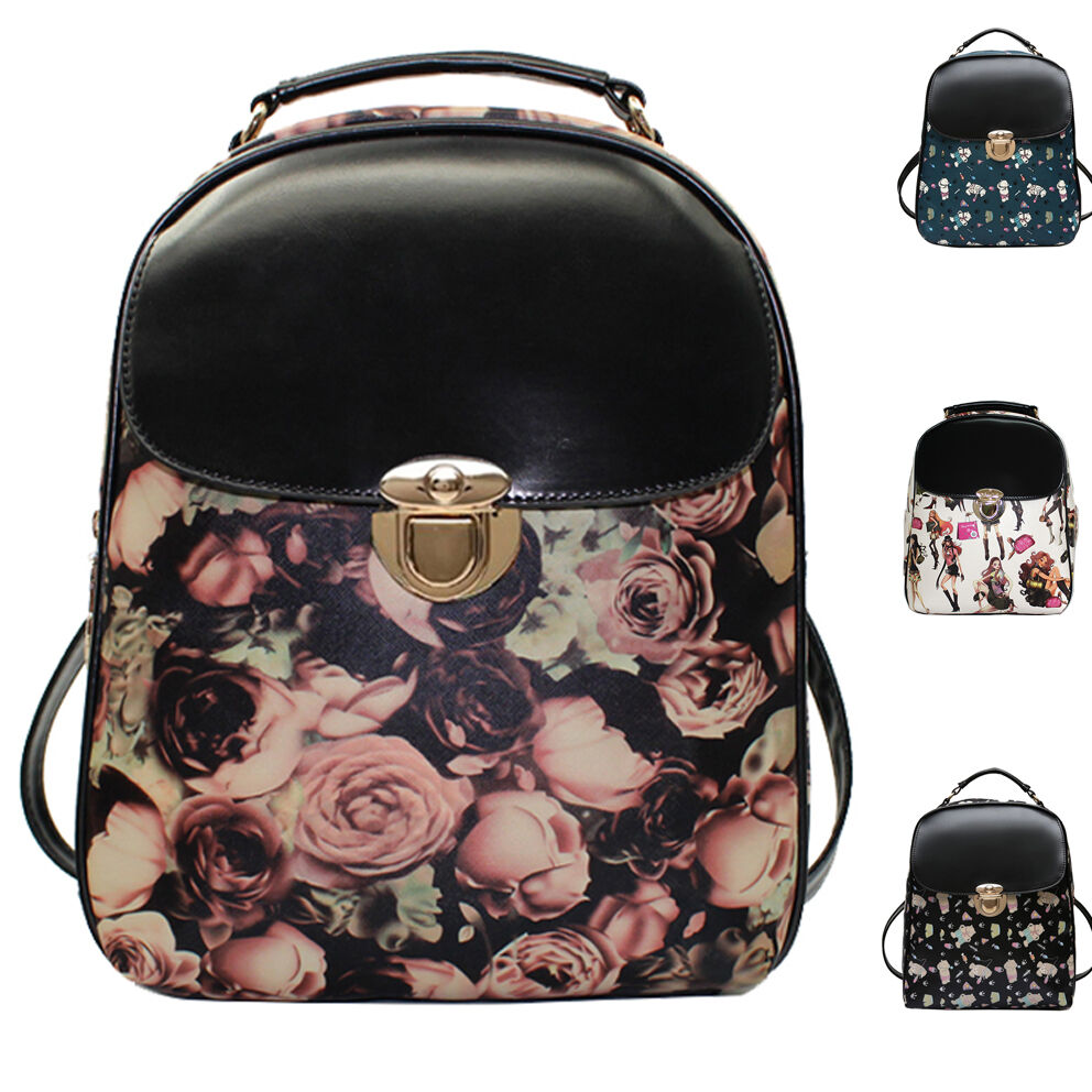 New womens girl backpack leather korean cute backpack fashion school bag ebay Korean style fashion girl bag