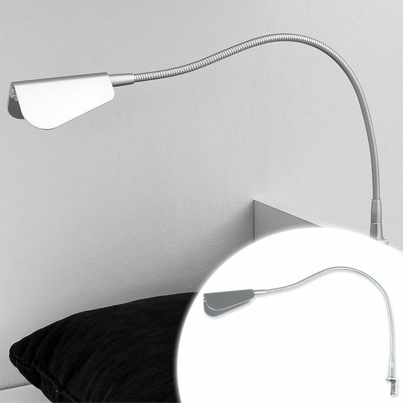 led leseleuchte aufbauleuchte nachttischlampe bettlampe leselampe 230v 12v ebay. Black Bedroom Furniture Sets. Home Design Ideas