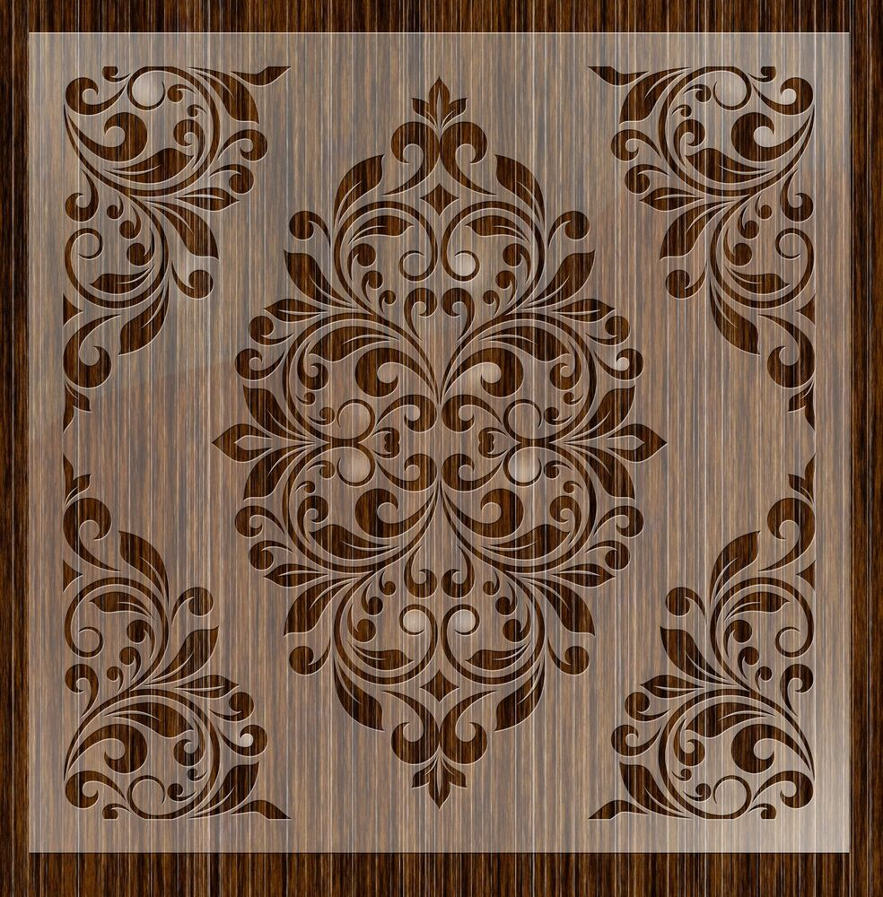 Fantasy stencils 24 damask large wall stencils ebay - Design patterns wall painting ...